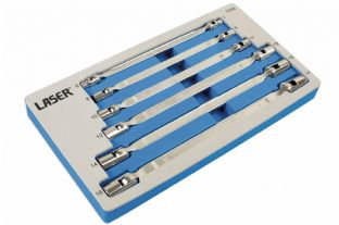 Laser 7256 6 Piece Double Flexible Socket Wrench Set